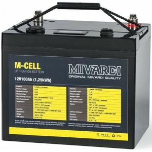 Lithiová Baterie Mivardi M-CELL 12V 100Ah + 20A Nabíječka