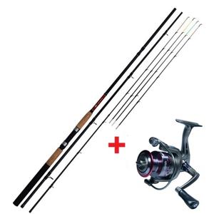 Prut Giants Fishing CLX Feeder TR 12ft + naviják Rapid SPX 3000 FD