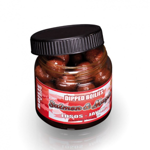 Boilie v Dipu Sportcarp Dipped Boilies 18mm 200ml Liver Protein Chilly Fruit