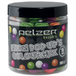 Plovoucí Boilies Pelzer Pop-Up Neon Colour Mix 16mm