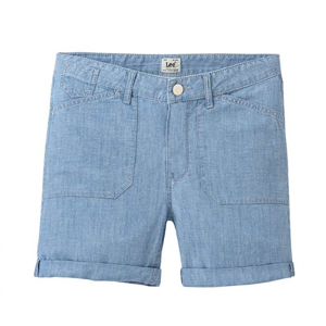 Lee SEASONAL SHORT BLEACHBEACHBLUE modrá 27 - Dámské šortky