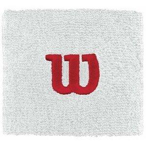 Wilson W WRISTBAND bílá NS - Tenisové potítko