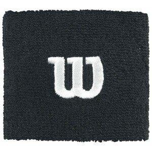 Wilson W WRISTBAND černá NS - Tenisové potítko
