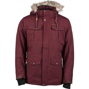 Carra LEON červená M - Pánská zimní bunda