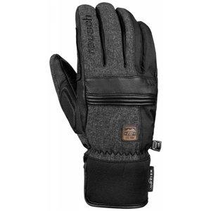 Reusch QUENTIN MEIDA DRY tmavě šedá 8 - Pánské lyžařské rukavice