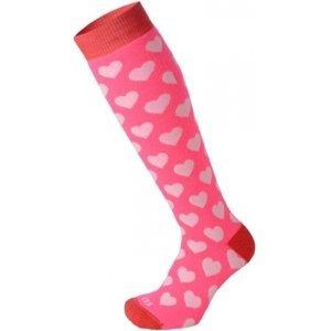 Mico KIDS PROTECTION růžová L - Juniorksé lyžařské ponožky