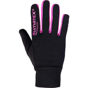 Klimatex SANYOT růžová M - Strečové prstové rukavice