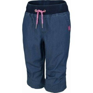 Lewro KORY růžová 128-134 - Dětské 3/4 kalhoty džínového vzhledu