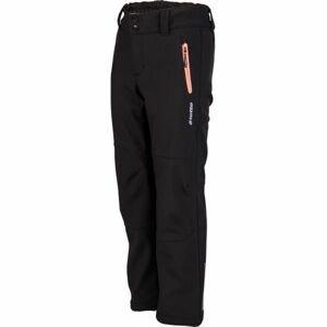 Lotto DAREK černá 140-146 - Dívčí softshellové kalhoty