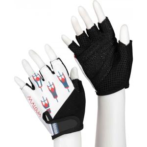 Maloja PLASCH M. bílá M - Cyklistické rukavice