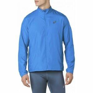 Asics SILVER JACKET modrá S - Pánská běžecká bunda