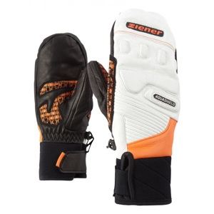 Ziener LISORO AS MITTEN JUNIOR ORANGE bílá 4 - Dětské lyžařské rukavice