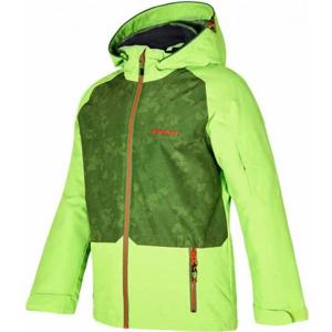 Ziener AFELIX ORANGE zelená 104 - Dětská lyžařská bunda
