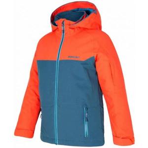Ziener AFELIX ORANGE oranžová 116 - Dětská lyžařská bunda