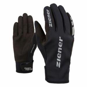 Ziener URS GWS BLACK černá 7 - Běžecké rukavice