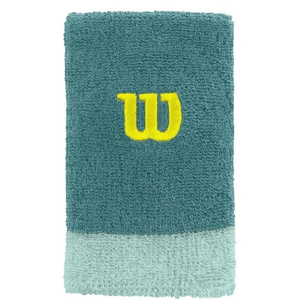 Wilson EXTRA WIDE WRISTBAND zelená NS - Tenisové potítko