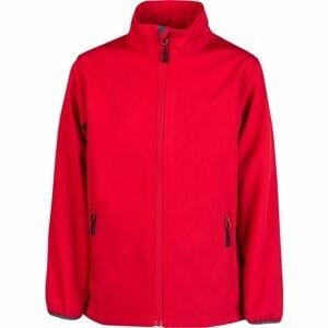 Kensis RORI JR červená 152-158 - Chlapecká softshellová bunda