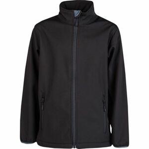 Kensis RORI JR černá 140-146 - Chlapecká softshellová bunda