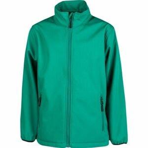 Kensis RORI JR zelená 128-134 - Chlapecká softshellová bunda