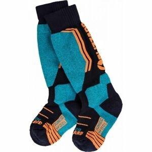Blizzard ALLROUND WOOL SKI SOCKS JR modrá 33-35 - Dětské lyžařské ponožky
