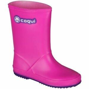 Coqui RAINY růžová 33 - Dětské holínky