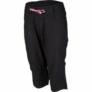 Willard LENTIL černá 38 - Dámské plátěné 3/4 kalhoty