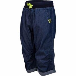 Lewro ORA modrá 152-158 - Dětské 3/4 kalhoty džínového vzhledu