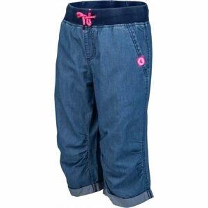 Lewro ORA modrá 128-134 - Dětské 3/4 kalhoty džínového vzhledu