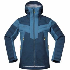 Bergans HEMSEDAL HYBRID JKT modrá L - Pánská lyžařská bunda