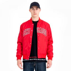 New Era CHICAGO BULLS TEAM WORDMARK VARSITY JACKET červená S - Pánská bunda