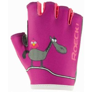 Roeckl TORO růžová 4 - Dětské cyklistické rukavice