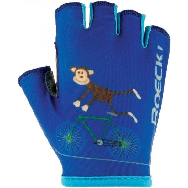 Roeckl TORO modrá 4 - Dětské cyklistické rukavice