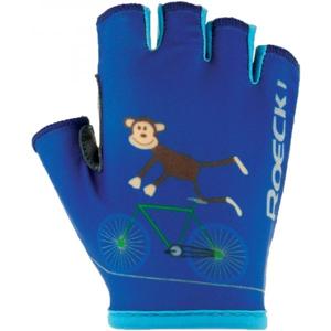 Roeckl TORO modrá 3 - Dětské cyklistické rukavice