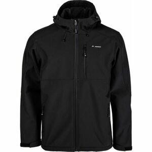 Crossroad PALMER černá M - Pánská softshellová bunda