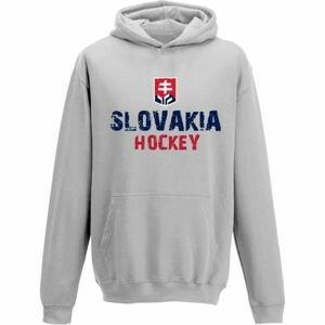Střída KLOKANKA NAPIS SLOVAKIA HOCKEY šedá 112-116 - Dětská mikina
