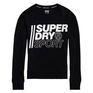 Superdry CORE SPORT CREW černá 8 - Dámská mikina