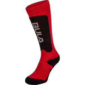 Bula BRANDS SKI SOCKS červená XS - Dětské lyžařské ponožky