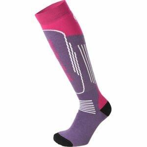 Mico SUPERTHERMO JR fialová L - Dětské lyžařské ponožky