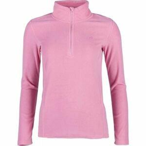 4F FLEECE UNDERWEAR růžová M - Dámské triko s dlouhým rukávem