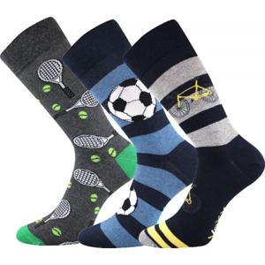 Voxx S-BOX pánská 3pack šedá 23-25 - Pánské ponožky