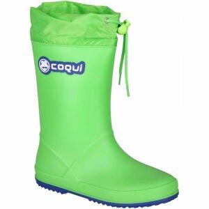 Coqui RAINY COLLAR zelená 31 - Dětské holínky