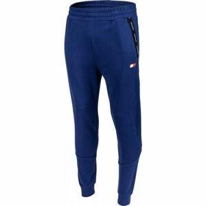 Tommy Hilfiger FLEECE CUFFED TAPE PANT modrá XL - Pánské tepláky