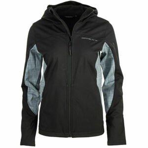 ALPINE PRO HADARA černá S - Dámská softshellová bunda