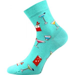 Boma PATTE 043 modrá 35 - 38 - Vysoké ponožky