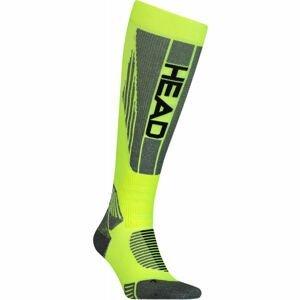 Head UNISEX RACER KNEEHIGH žlutá 39 - 42 - Závodní lyžařské ponožky