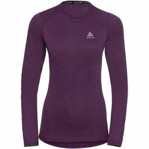 Odlo BL TOP CREW NECK L/S ACTIVE THERMIC fialová M - Dámské funkční tričko