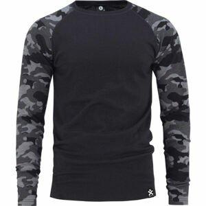 Bula CAMO MERINO WOOL CREW  L - Pánské triko