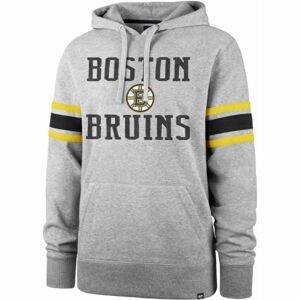 47 NHL BOSTON BRUINS DOUBLE BLOCK SLEEVE STRIPE HOOD  M - Mikina