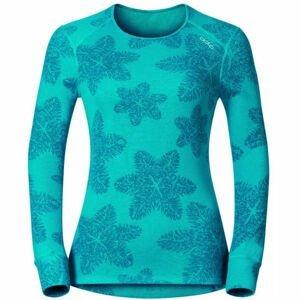 Odlo L/S CREW NECK GOD JUL PRINT WIN  L - Dámské funkční tričko
