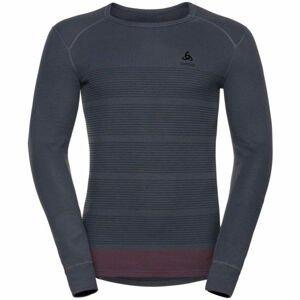 Odlo L/S CREW NECK GOD JUL PRINT  S - Pánské funkční tričko